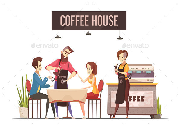 Coffee House Design Concept - Food Objects