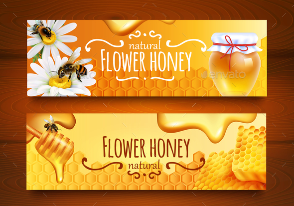 GraphicRiver Realistic Honey Banners 20830483