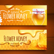 Realistic Honey Banners - GraphicRiver Item for Sale