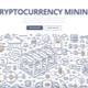 Cryptocurrency Mining Doodle Concept - GraphicRiver Item for Sale