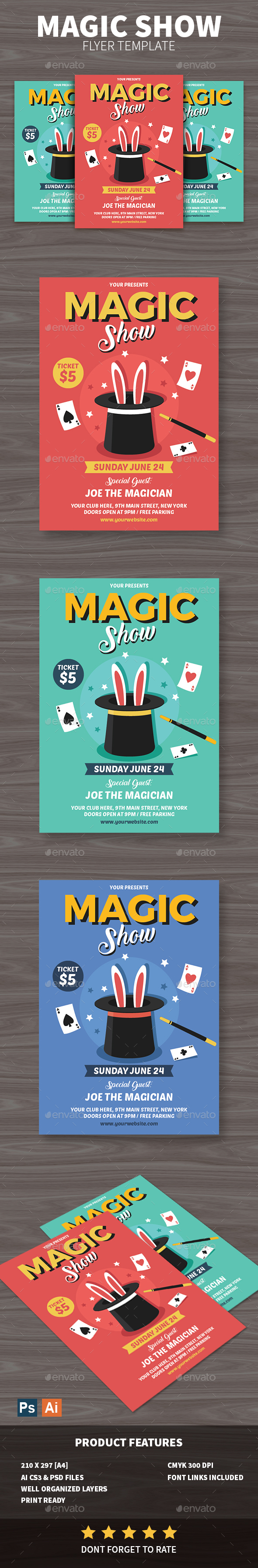 GraphicRiver Magic Show Flyer 20830768
