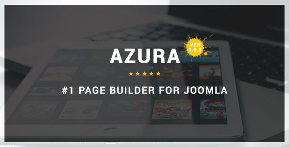 Azura - Responsive Joomla Page Builder - CodeCanyon Item for Sale
