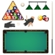 Set of Pool, Billiard, Snooker Game Objects