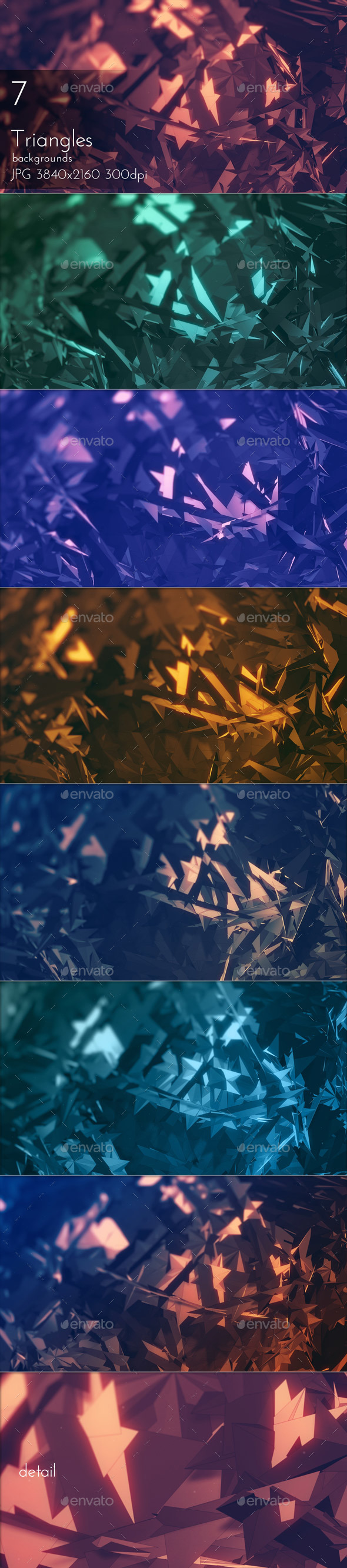 GraphicRiver Triangular Polygons Abstract Backgrounds 20830888