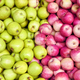 Red and green apples, fruit background - PhotoDune Item for Sale