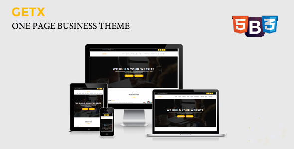 ThemeForest GetX Onepage Business WordPress Theme 20212367