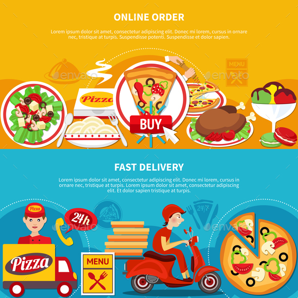 GraphicRiver Order Pizza Online Banners 20830961