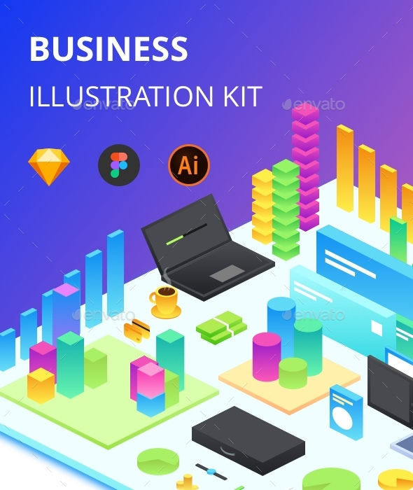 Business Illustration kit - Objects Icons