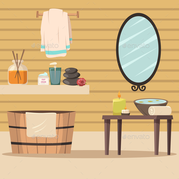 Spa Salon With Accessories For Relaxation - Health/Medicine Conceptual