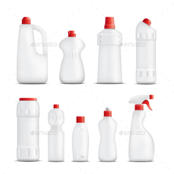 Cleaning Product Bottles Collection - Miscellaneous Vectors