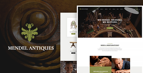 Mendel | Furniture Design & Restoration - Retail WordPress