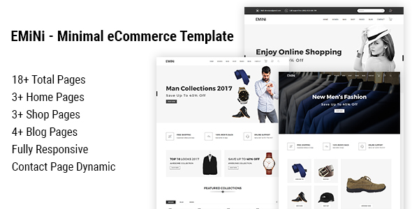 Image of EMiNi - Minimal eCommerce HTML Template
