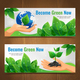 Ecology Horizontal Banner Set