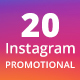 20 Instagram Promotional Template - GraphicRiver Item for Sale