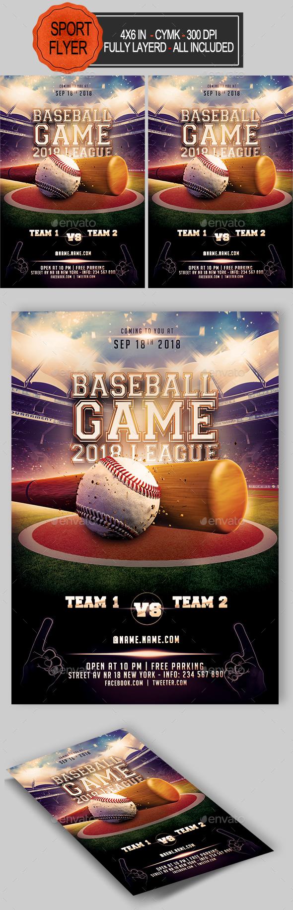 GraphicRiver Baseball Flyer 20831440