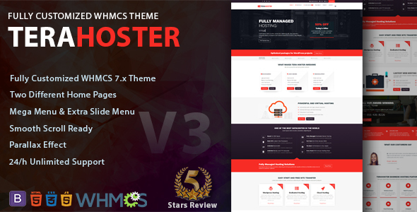 TeraHoster - Premium Hosting Template with WHMCS