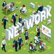 Network Isometric People Icon 3D Set Vector Illustration - GraphicRiver Item for Sale