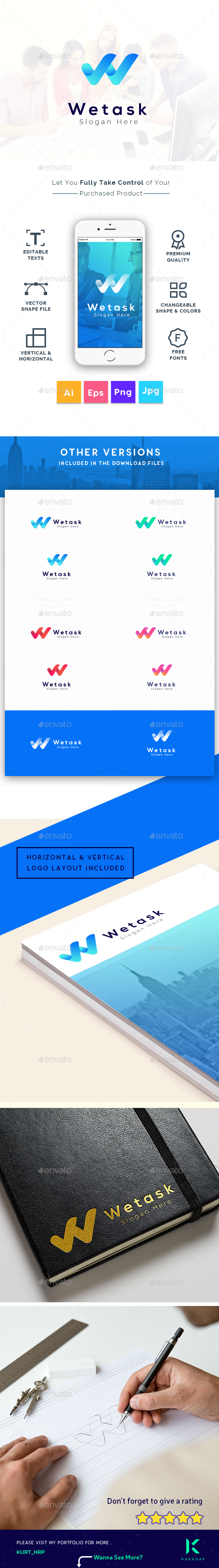 GraphicRiver We Task Letter W Logo Template 20826682