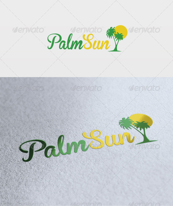 Palm Sun Logo - Nature Logo Templates