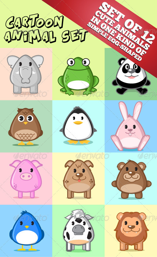 Cartoon Animal Set - Animals Characters