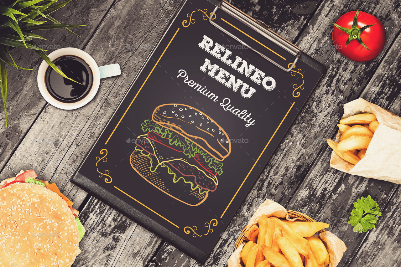 fast food menu mock up pack vol 1 by relineo graphicriver
