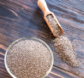 Glass bowl of chia seeds - PhotoDune Item for Sale