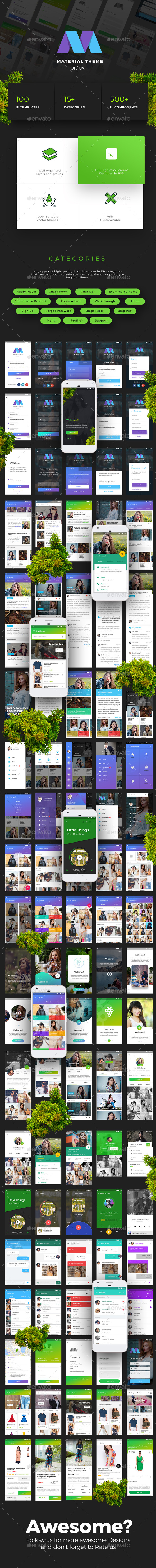 GraphicRiver Material Design Theme UX UI Kit by Opus Labs 20831944