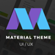 Material Design Theme UX/UI Kit  by Opus Labs