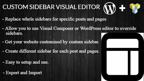 Custom Sidebar Visual Editor WordPress Plugin