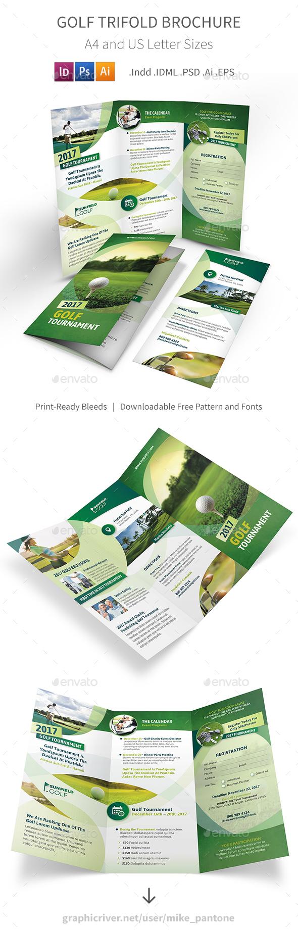 Golf Trifold Brochure 7 - Informational Brochures