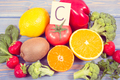 Healthy fruits and vegetables containing vitamin C and minerals - PhotoDune Item for Sale