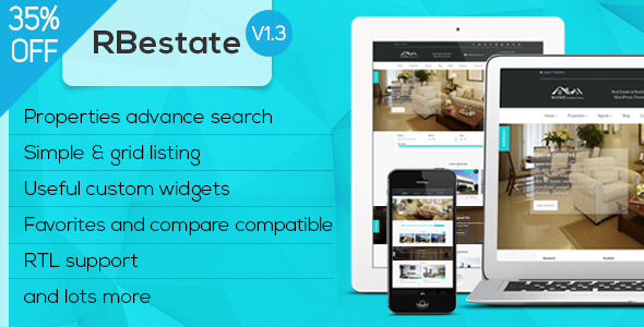 Image of RBestate - Real Estate with MLS IDX Listing WordPress Theme + RTL