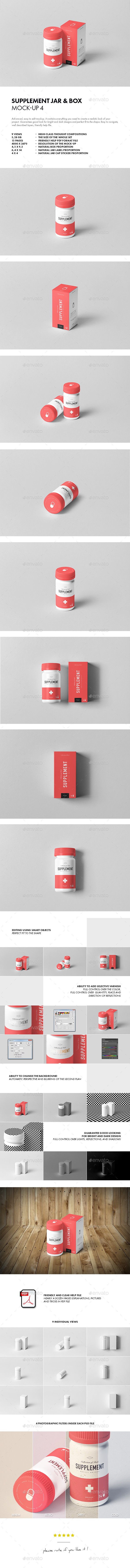 Supplement Jar & Box Mock-Up 4 - Miscellaneous Packaging