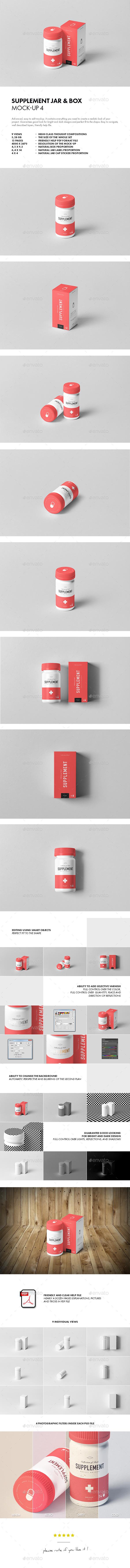 GraphicRiver Supplement Jar & Box Mock-Up 4 20832254