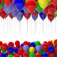 Colorful balloons on white background. 3d illustration - PhotoDune Item for Sale