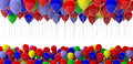 Colorful balloons on white background. 3d illustration