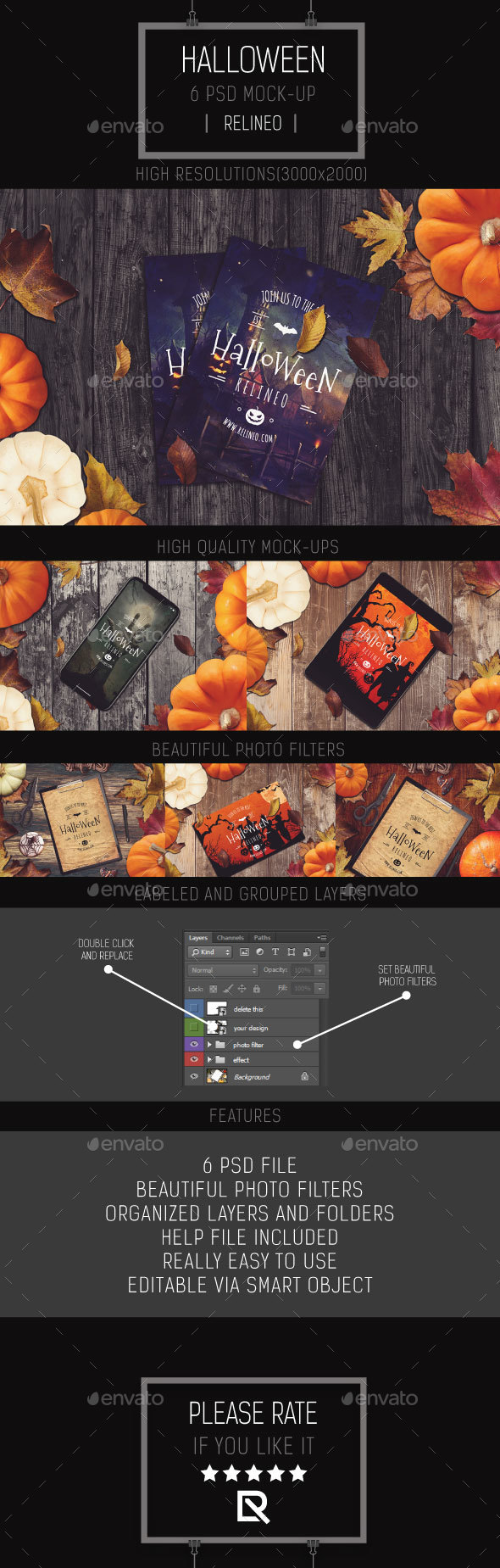 Halloween Mock-up Pack Vol.1 - Miscellaneous Product Mock-Ups