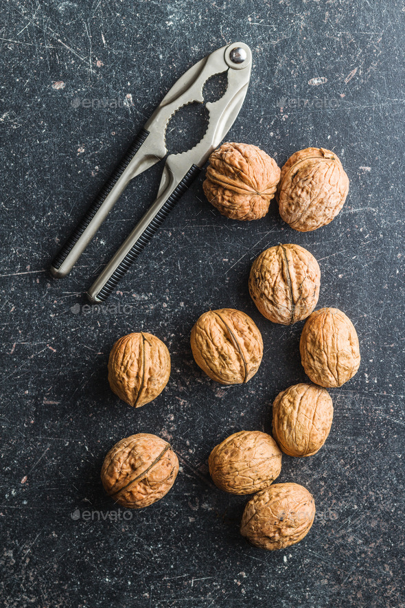 Tasty dried walnuts. - Stock Photo - Images