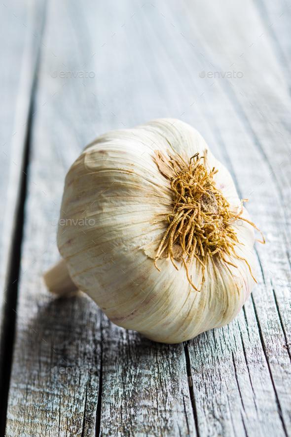 Fresh healthy garlic. - Stock Photo - Images