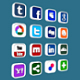 Social and Media Icon Set - 3DOcean Item for Sale
