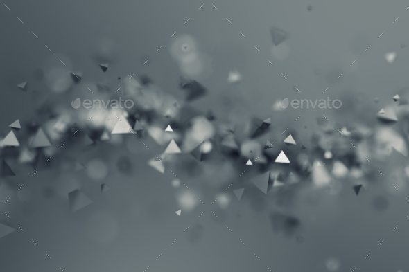 GraphicRiver Abstract 3D Rendering of Flying Polygonal Shapes 20832864