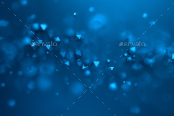GraphicRiver Abstract 3D Rendering of Flying Polygonal Spheres 20832873