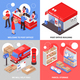 Post 2x2 Isometric Design Concept