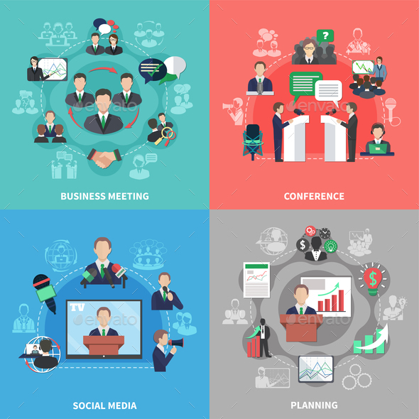 GraphicRiver Business Meeting Design Concept 20832934