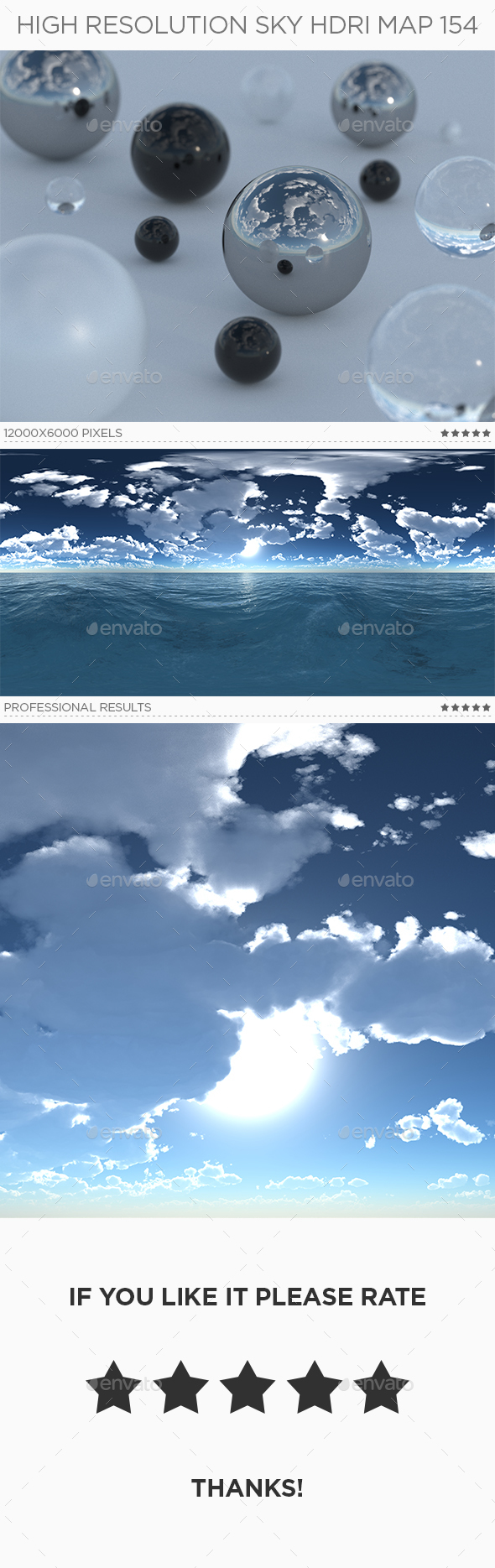 High Resolution Sky HDRi Map 154 - 3DOcean Item for Sale
