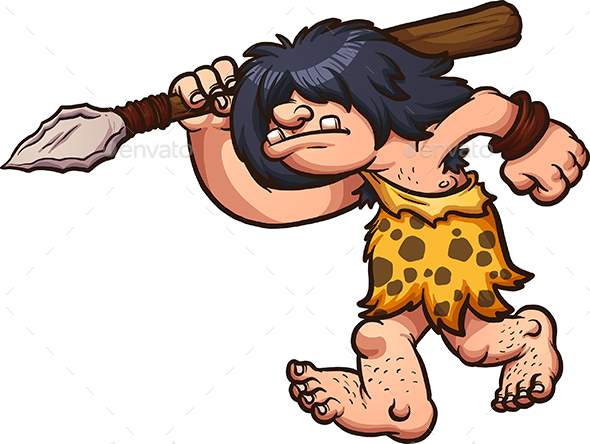 Hunting Caveman - People Characters