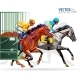 Three Racing Horses Competing with Each Other - GraphicRiver Item for Sale