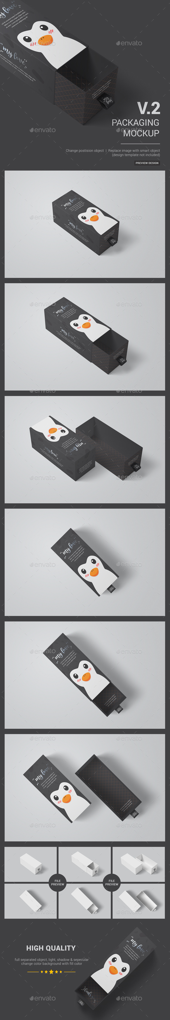 GraphicRiver Sliding Box Packaging Package Mockup 02 20833169