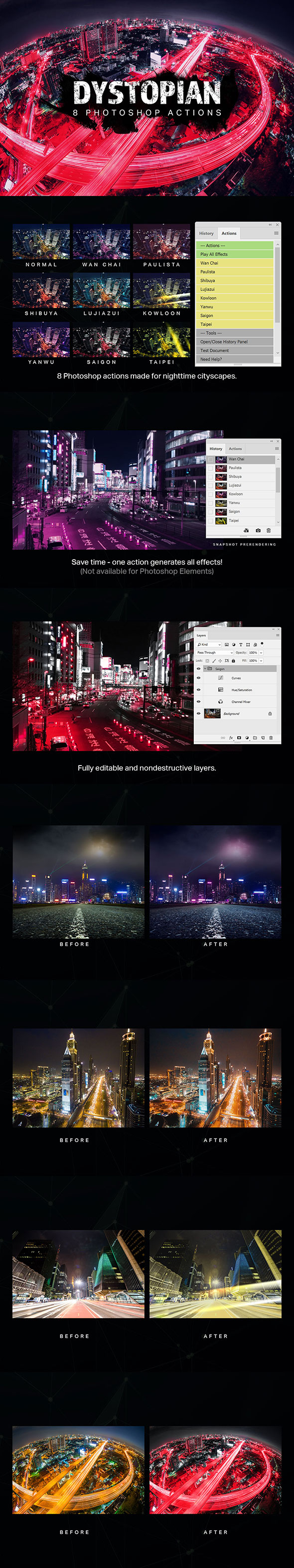 8 Dystopian Photoshop Actions - Photo Effects Actions