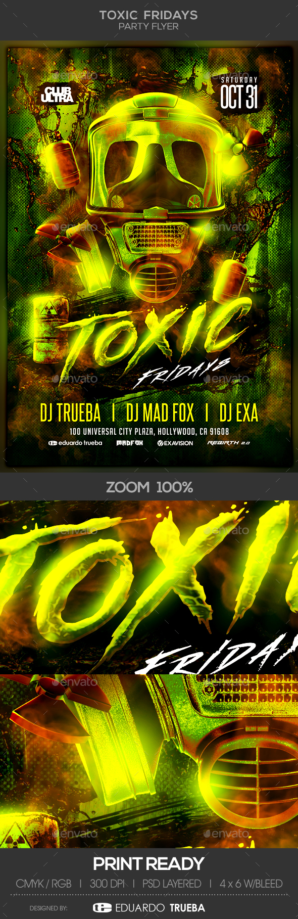 Toxic Fridays Party Flyer - Clubs & Parties Events